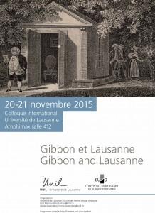 2015 Colloque Gibbon et Lausanne Affiche