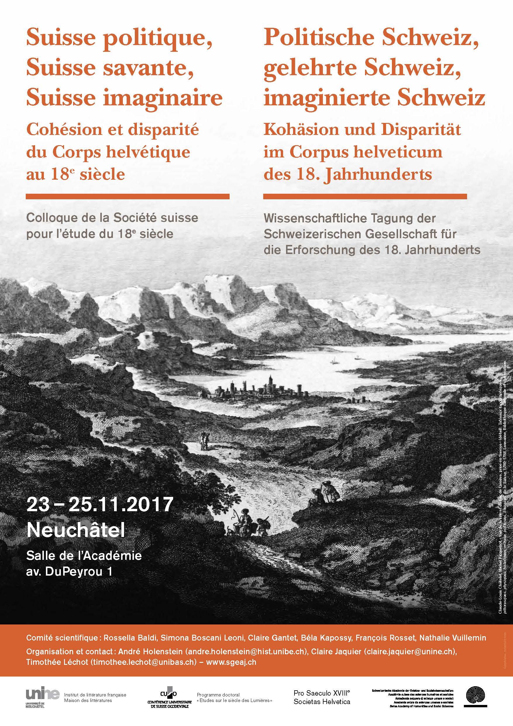 Veranstaltungen Pro Saeculo Xviii Societas Helvetica